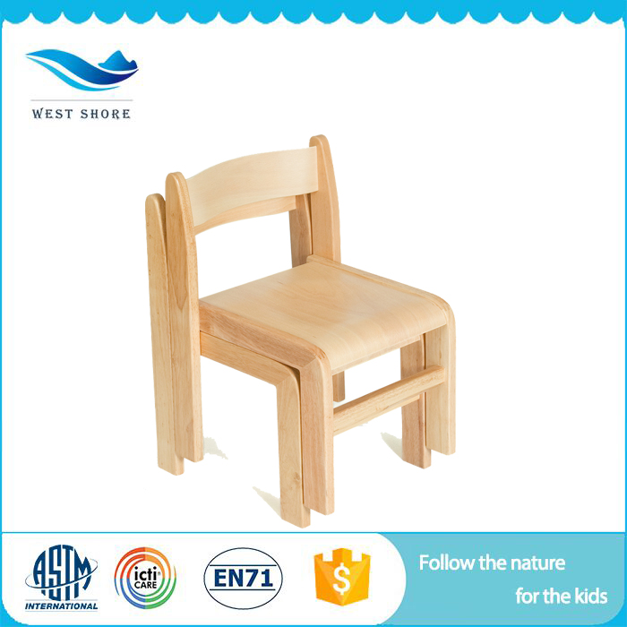Hot selling food grade free sample children seating chair wooden furniture