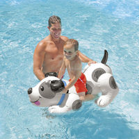 Air Dancer Type INTEX inflatable puppy ride on beach swim toys inflatable dog pool raft float