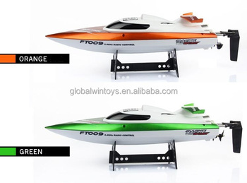 FT009 rc boat 2.4G 6 Channel speed boat,mini boat for kids plastic toy