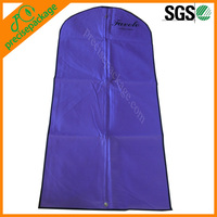 purple long dress non woven cheap garment dress covers/bags