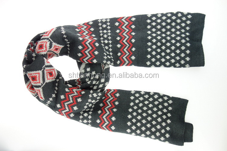 Top quality professional boys knitted scarf