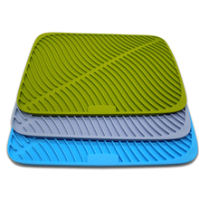 Benhaida NEW Design Silicone Drying Mat,Anti-Bactetial Kitchen Dish Drying Mat,Large Drying Pad