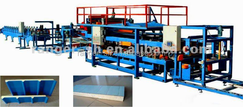 Structural EPS Rockwool Glasswool Aluminium Sandwich Composite Panel Cold Roll Forming Machine