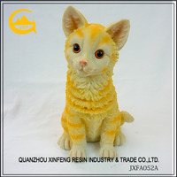 Handpainted adorable polyresin cat tabletop statue