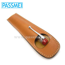 Convinient Simple Cheap Vegetable tanned leather pen case