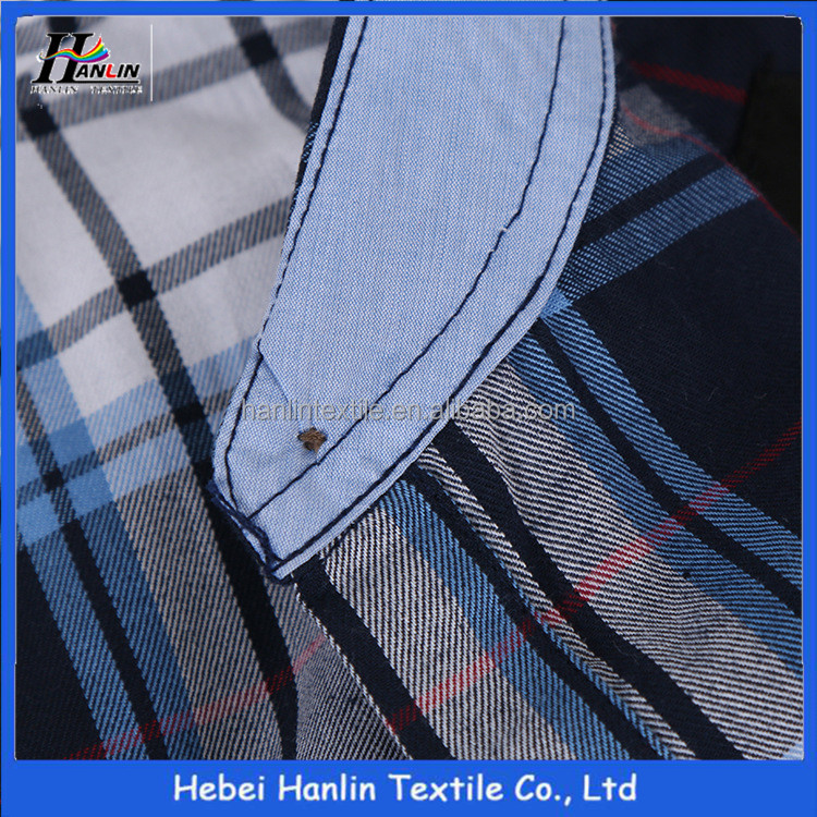 100% volie cotton check gingham fabric