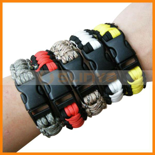 Multicolor Wholesale Survival Bracelet for Outdoors Rescue Rope Safety Bracelet