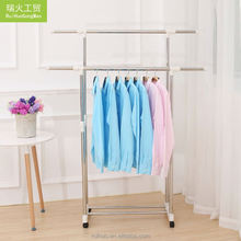 New coming style wire/laundry/dry/clean metal hanger foldable clothing laundry rack