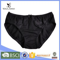 OEM Supplier Latest Fashion Mature Women Black Bow Tie Hot Images Sex Sexy Transparent Women Underwear / Bikini