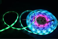 addressable rgb digital dream ws2812b ws2811 5v led strip;DC5V input; 5m/roll;White PCB;Waterproof silicon coating IP65