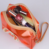 stripped Transparent traveling bag high Quality beautiful PVC cosmetic bag