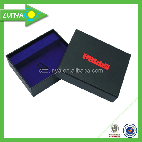 Hot selling packing black red stomping paper box made by experienced factory