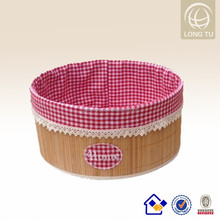 2016 new pattern red check fabrics doll storage boxes