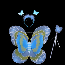 blue silk stocking butterfly wing for kids