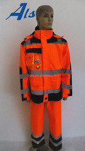 Industrial mine protective reflective winter safety clothing