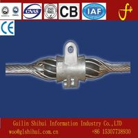 Fiber Splint for metal cable clamp