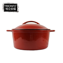 Trionfo Multi Color two ears enameled Cast Iron Cookware/pot