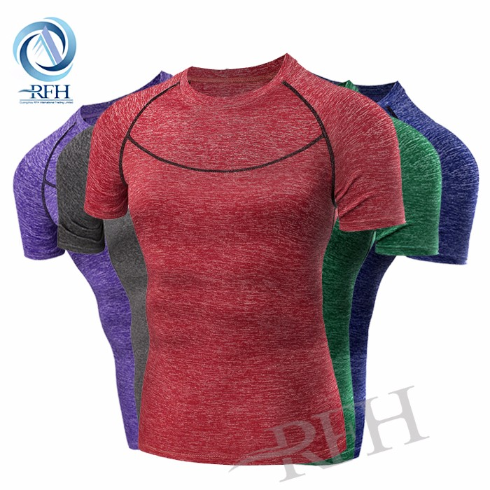 2016 Comfortable Sport Wear Quick Dry fit Custom Logo tight T Shirt For Men