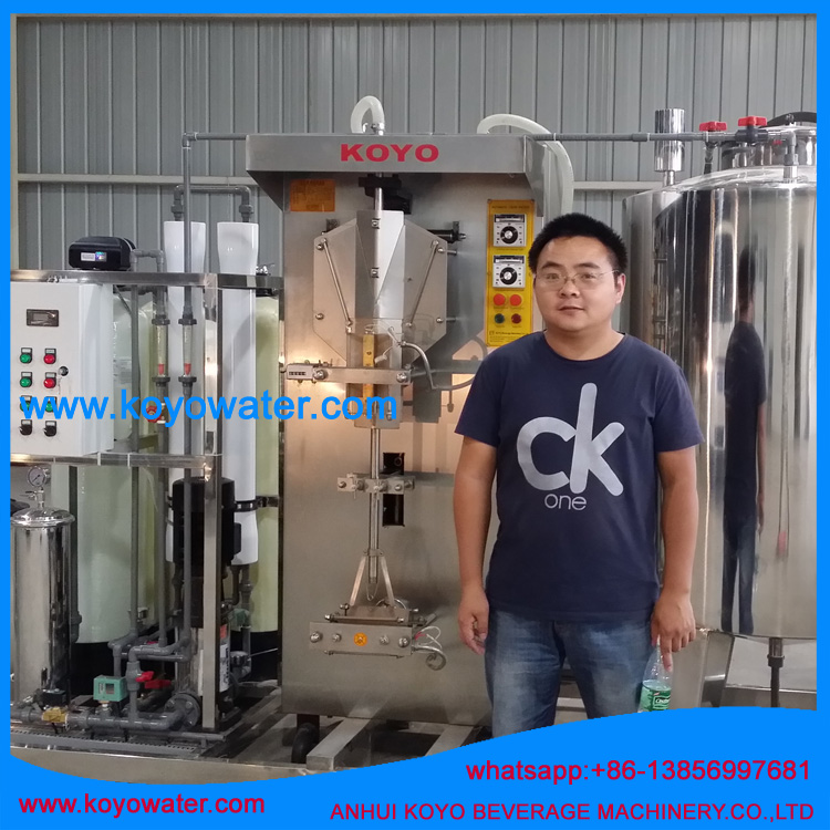 Koyo Pure Water Processing Machine/full automatic liquid filling production line/complete sachet water production line