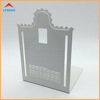 Cheap Price Customized Design Metal Bookend with White Powder Coating Book Ends