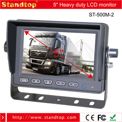 5 inches TFT LCD Color Monitor With Sunshade for Mini Bus
