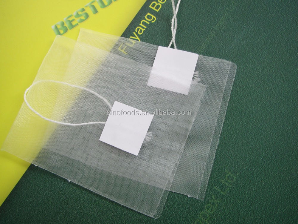 Empty nylon tea bags pyramid and flat shape Nylon Mesh Pyramid Tea Bags