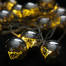 Christmas tree ball decoration plastic ball light festival string light