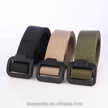Wholesale nylon braided belt with plastic buckle for outdoor sports belts