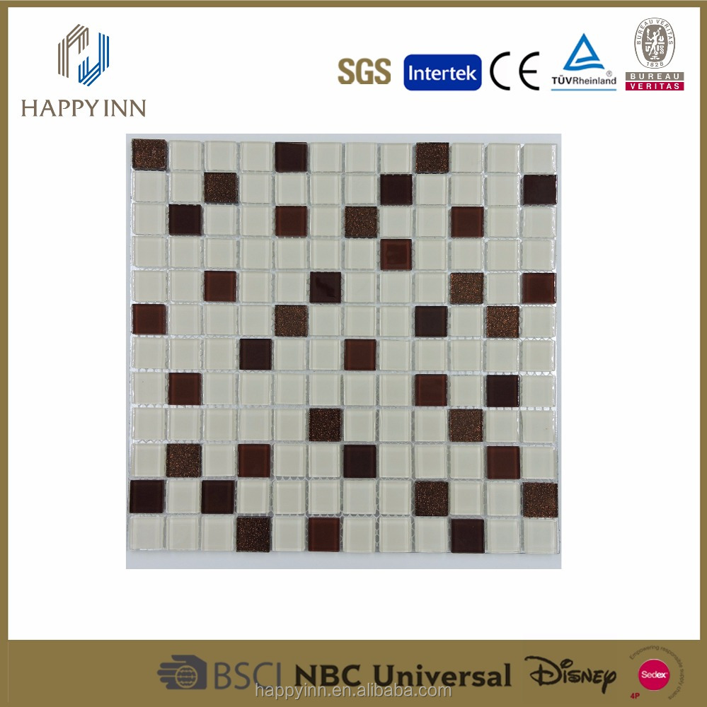 marble hexagon mosaic swimming pool bullnose tile crystal glass mosaic tile