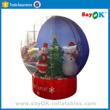 Hot sale inflatable christmas ball ornaments /inflatable santa claus balloon