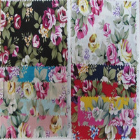 Good quality Printed floral 100% cotton poplin printed fabric for dress