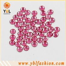 high quality low lead rose color hotfix rhinestone flatback
