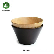 Food Grade Dark Color Satiny Finish Date Wood Salad Bowl for Baby