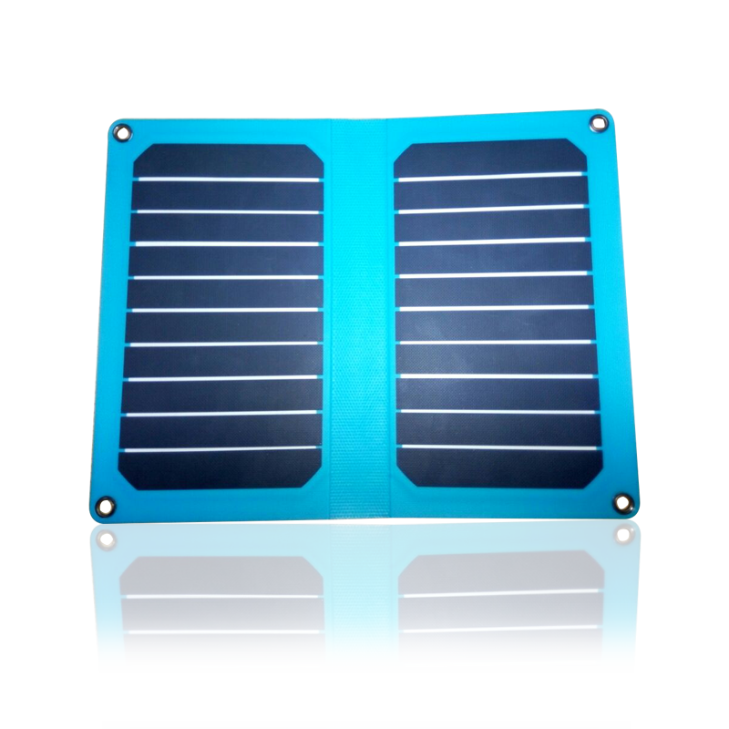 Semi-flexible thin film solar charging jewels efficient 10.6W slim phone fast charge portable folding solar panels 5V