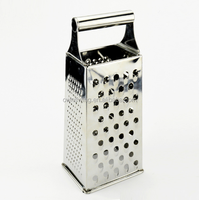 Box Grater, 4-Sided Stainless Steel Large 10-inch Grater for Parmesan Cheese, Ginger, Vegetables Chopper