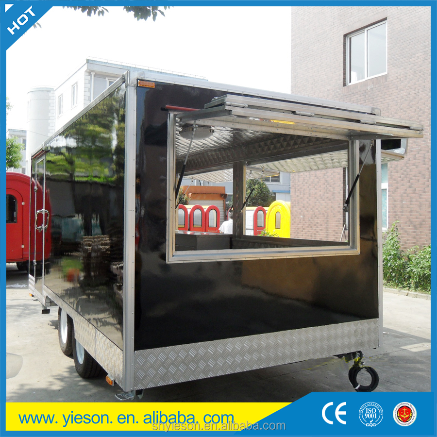 mobile kitchen with multi-function/ fast food trailer for food van with advertise space