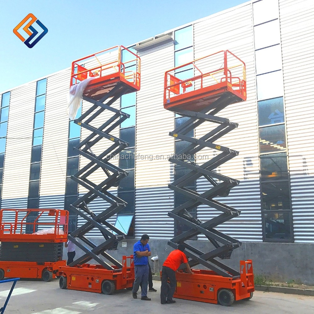 China manufacturer small self-propelled hydraulic scissor lifts from Chinese manufacturer for sale