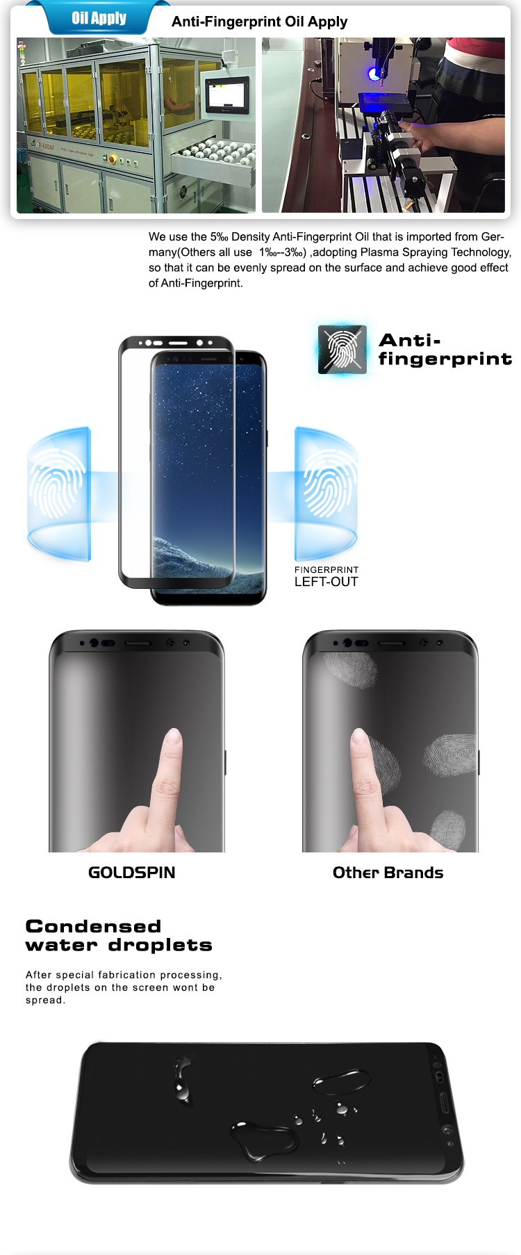 3D Full Cover Tempered Glass Screen Protector for Samsung Galaxy S8 Plus