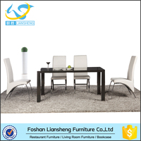 Auatralia dinning table design MDF high gloss dining table set used dining room furniture for sale
