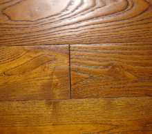 "Robinia golden teak solid hardwood flooring - 5"" x 3/4"""