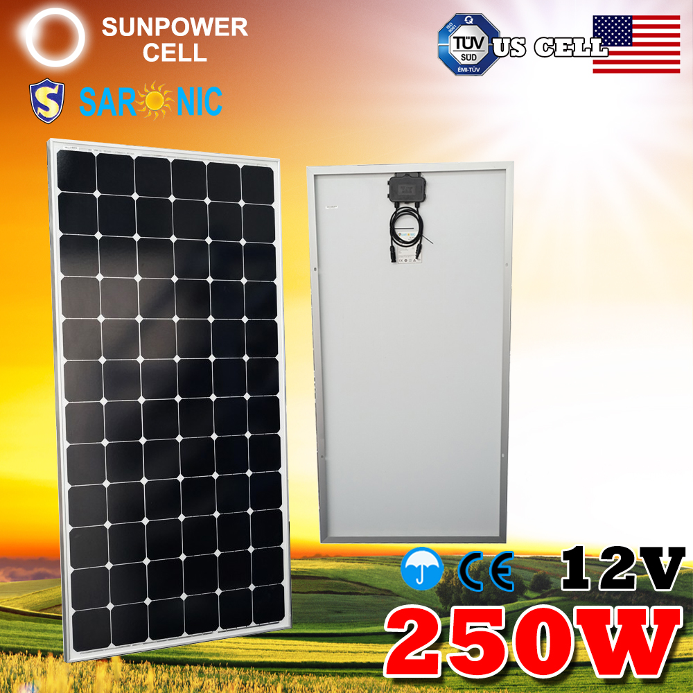 12V Battery Mono Monocrystalline Solar Panels 250 Watt