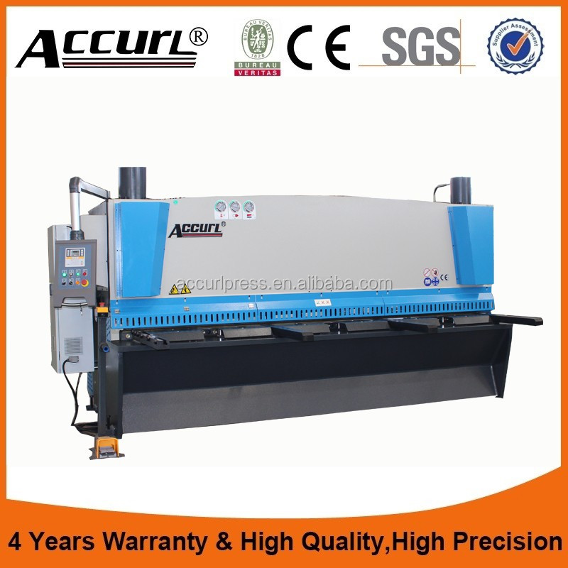 guillotine steel hydraulic cutting machine and Aluminum guillotine shearing machine for 6mm carbon steel