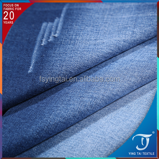 2017 spring new cotton polyster jean fabric cheap price high quality indigo color pantalones jeans