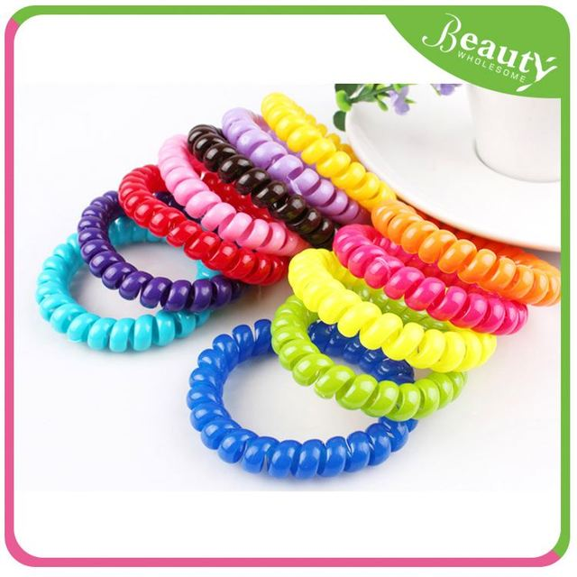 rubber hair band ponytail holder ,H0T025 rainbow color hair bands , high quality elastic hair band