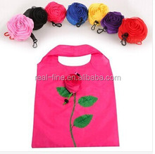 Hot Fashion Rose Flowers Reusable Folding Shopping Bag Travel Grocery Bags Tote Red Yellow Blue Purple Pink