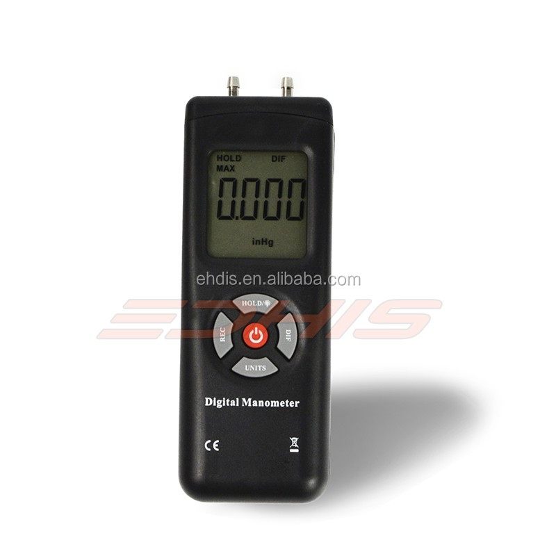 LCD Digital Manometer Differential Air Pressure Meter Gauge