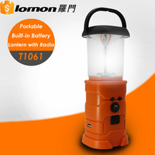 T1061 Multi-function Ultra Bright Hand Crank Charger USB Solar Rechargeable Led Camping Lantern with fm Radio
