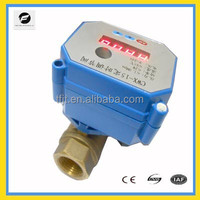 CWX-15 timer 5V, 3V,12V mini motorized valve with fail safe close function for Irrigation system,cooling/heating system