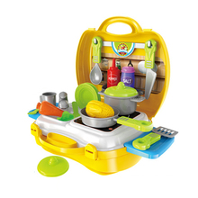 Kitchen toy set plastic indoor pretend play children toys cooking game toy set