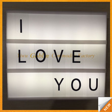 GBEY-043DIY light box with letter Aluminum Composite Material Indoor or Outdoor LED advertising light box/waterproof light box